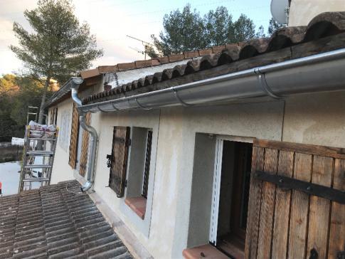 Pose gouttière en zinc, Aix-en-Provence